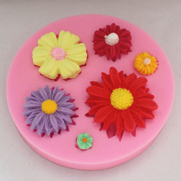 New pcs flower shaped chocolate candy jello silicone mold