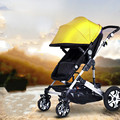 Children cart portable folding baby cart high landscape with umbrella