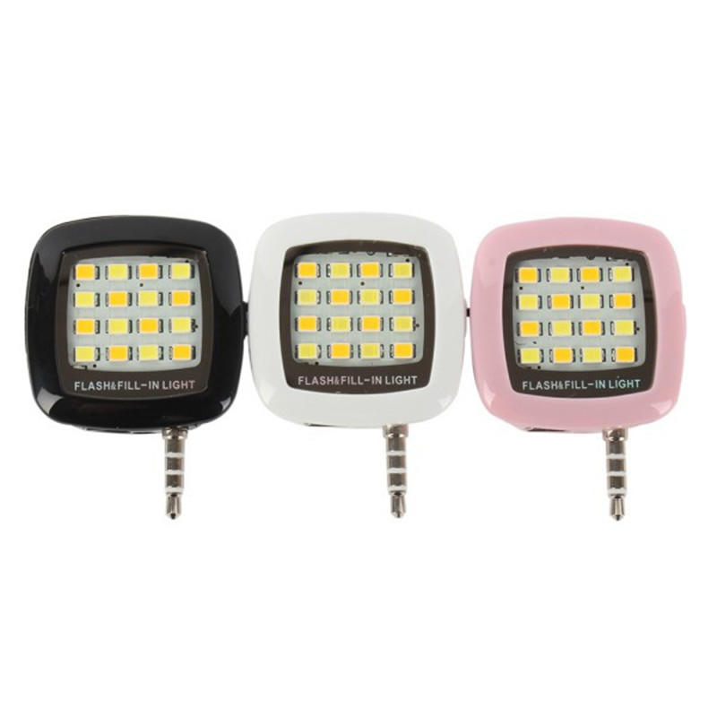 Portable Mini 16 Leds LED Flash Fill Light For iPhone IOS Android Smartphone H828(China (Mainland))
