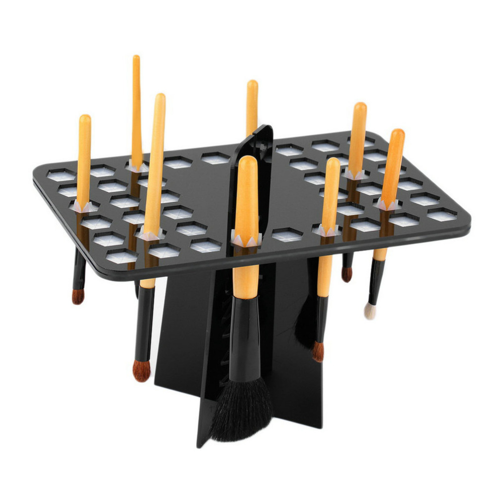 42 Round Holes Makeup Folding Collapsible Air Drying Brush Tree Rack 2016 Hot Worldwide sale(China (Mainland))