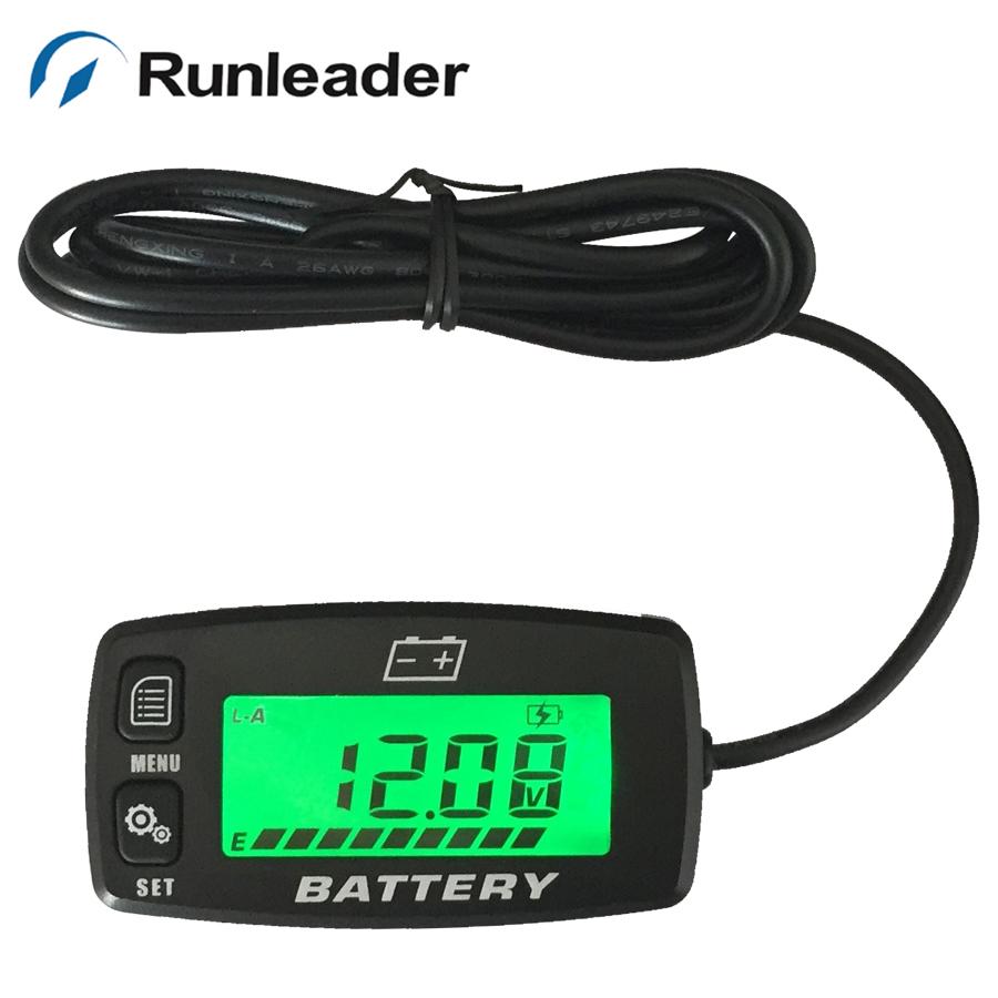 12V 24V 36V 48V Battery Indicator BATTERY charge meter Voltmeter for golf carts electric vehicle marine car RL-BI008(China (Mainland))