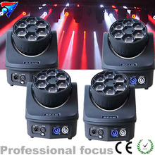 Professional Mini Beam Moving Head Light 6*15W High Power RGBW 4in1 Led Stage Lighting 11/14DMX Channel DJ light - RuiQin Equipment Factory store
