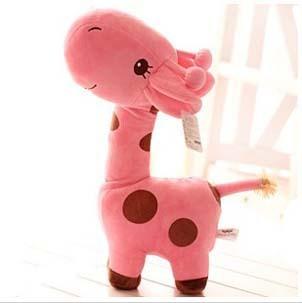 Free  ship  Cute pink  giraffe doll, plush toys /stuffed toys ,children gift,/birthday gift