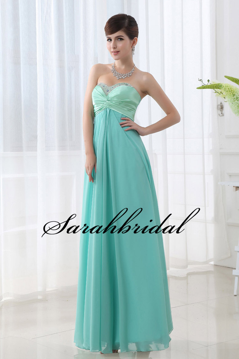 Hot Royal Blue/Green/Purple Beaded Evening Dresses 2015 In Stock Chiffon Special Occasion Dresses Evening Gowns Lace Up SD003(China (Mainland))