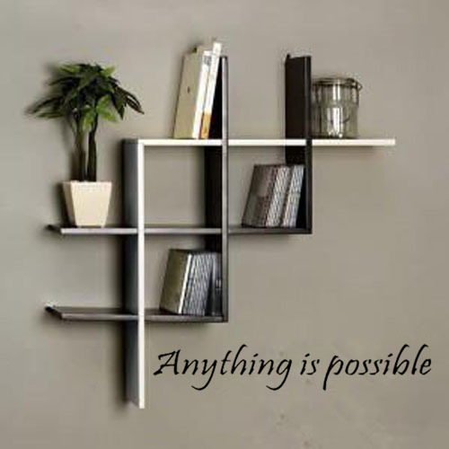 Free shipping:Anything Is Possible Inspirational Wall Decals Sayings Positive Quotes Sayings Sticker Wall Art Home Decor(China (Mainland))