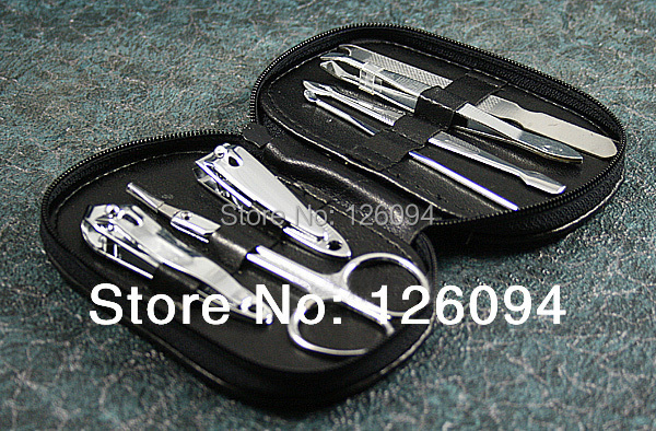1 SET X 7 In 1 Nail Care Kits Manicure Pedicure Gift Sets Nail Clippers Nail Scissors Tools Sets(China (Mainland))