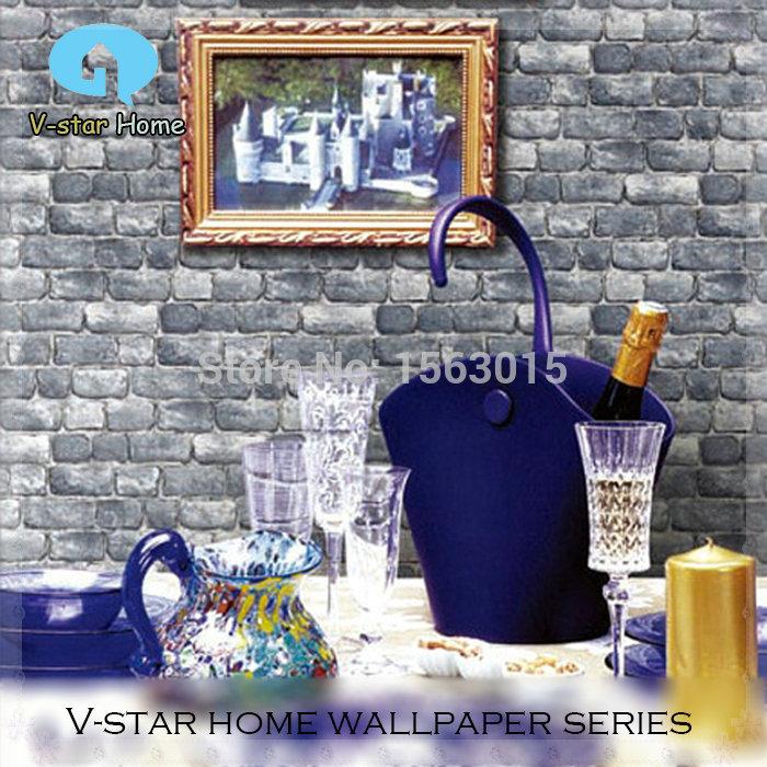 Vintage brick wallpaper bar decoration store background Sound insulation 3D wallpaper mural PVC High 10m KITCHEN(China (Mainland))
