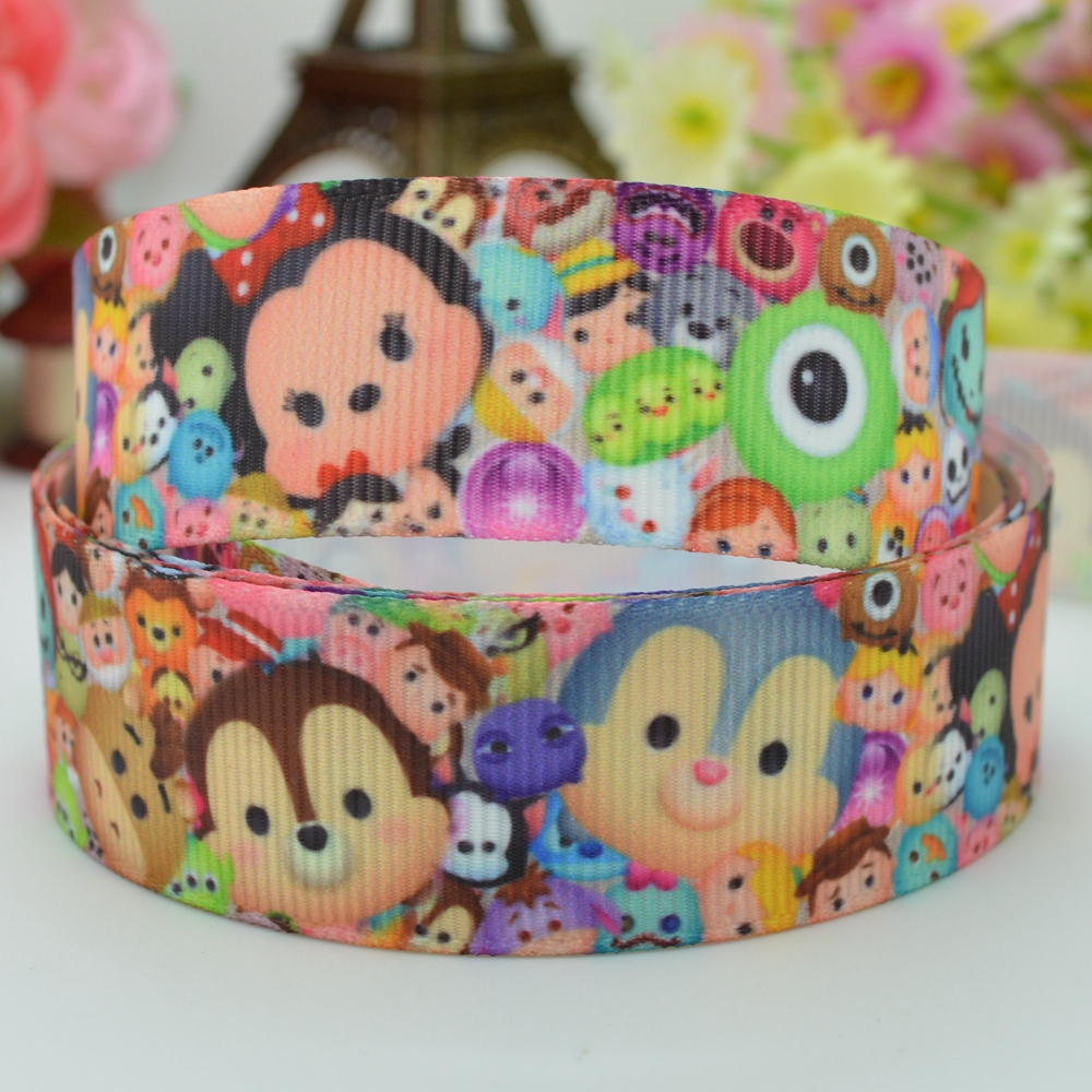 7/8 inch 22mm SO Cute TSUM START STACKING Printed grosgrain ribbon hai rbow DIY handmade OEM 50YD - Vega Jewelry Co. Ltd. store