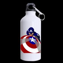 Marvel hero Cartoon style Printed Sports 13.5oz Aluminum Alloy Portable Water Bottle outdoor Camping Hiking Bottles LU-66(China (Mainland))