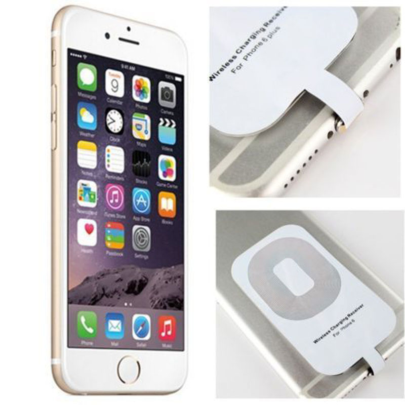For Apple Iphone 5 5s 5c 6 6s Plus Qi Wireless Charger Receiver Card for Ipone Iphon I6 I5 Mobile Phone Smart Charging Adapter(China (Mainland))