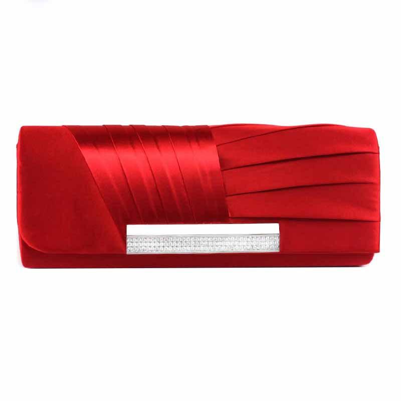 2016Women Satin Rhinestone Evening Clutch Bag Ladies Day Clutch Purse Chain Handbag Bridal Evening Bag Party Bolsa Mujer XA713D(China (Mainland))