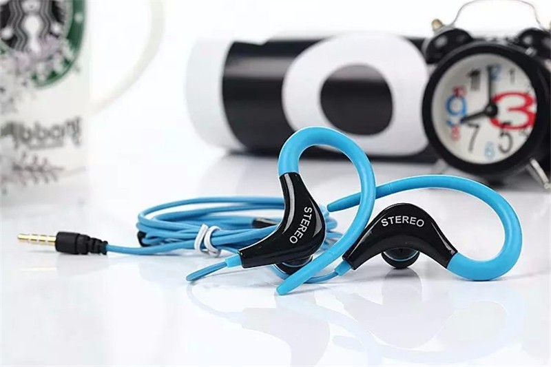 Jiabosi Wholesale 3.5mm sport Earphones Headphone Headset with Mic For iPhone Samsung Xiaomi MP3, High quality Bass For Running