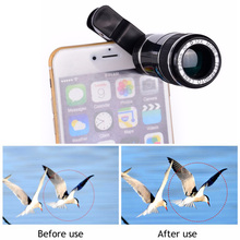 Buy Universal Clips 12X Zoom Phone Lenses Telephoto Lentes Telescope Camera Lens iphone 7 6 5 4 S Xiaomi Huawei Samsung S5 S6 S7 for $11.73 in AliExpress store