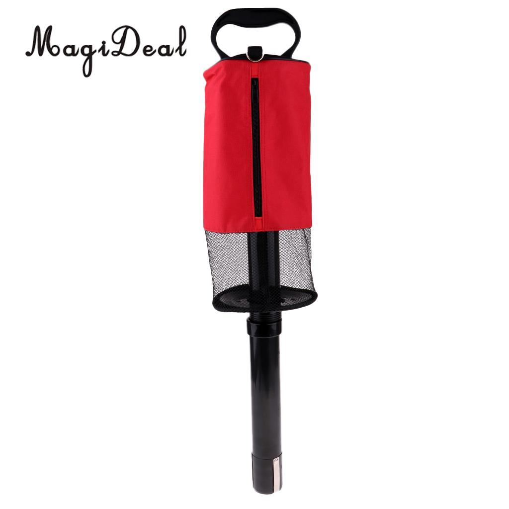 Detachable Golf Shag Bag Tube Golf Accessories Golfer Practice Training Aids Large Holds up tp 65 Balls Collector