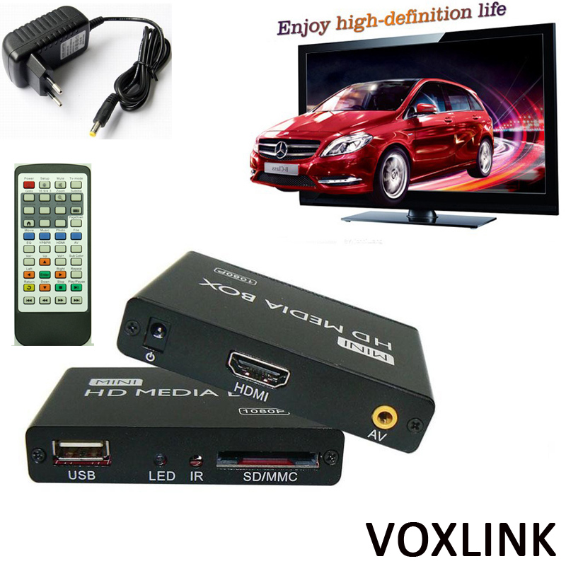 50PCS VOXLINK 1080P Mini HDD Media Player MKV/H.264/RMVB SD/USB/SDHC/MMC HDD-HDMI HDD Multimedia Player_DHL(China (Mainland))