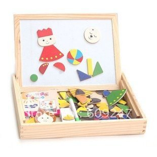 Coincidence of the magnetic wooden puzzles Children 's educational toy building blocks Magnetic toys