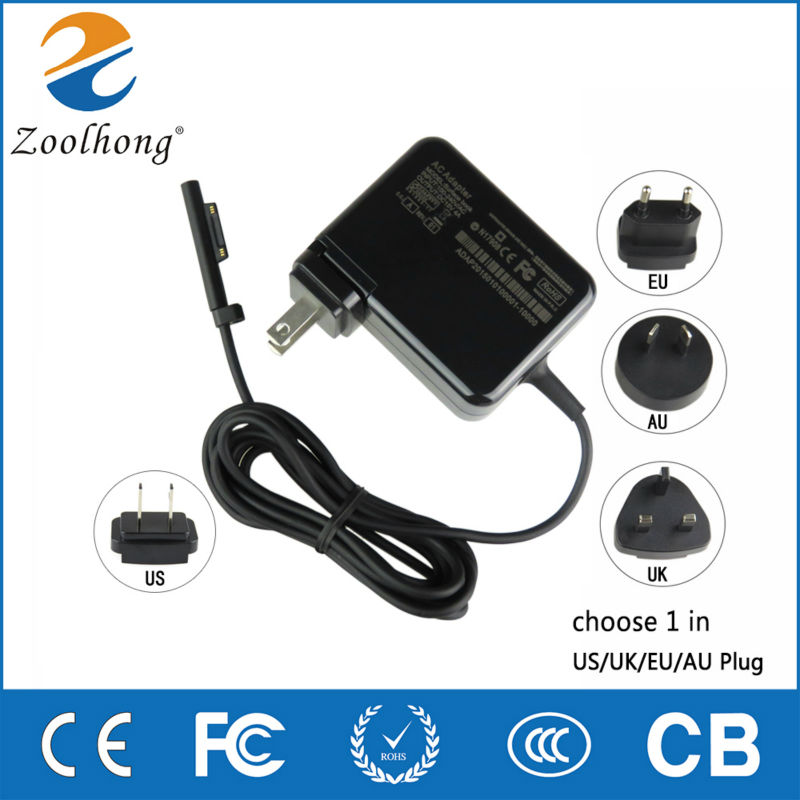 For Microsoft Surface Pro 4 AU/EU/UK Plug 15V 4A 60W Surface book Adapter Charger Power Supply