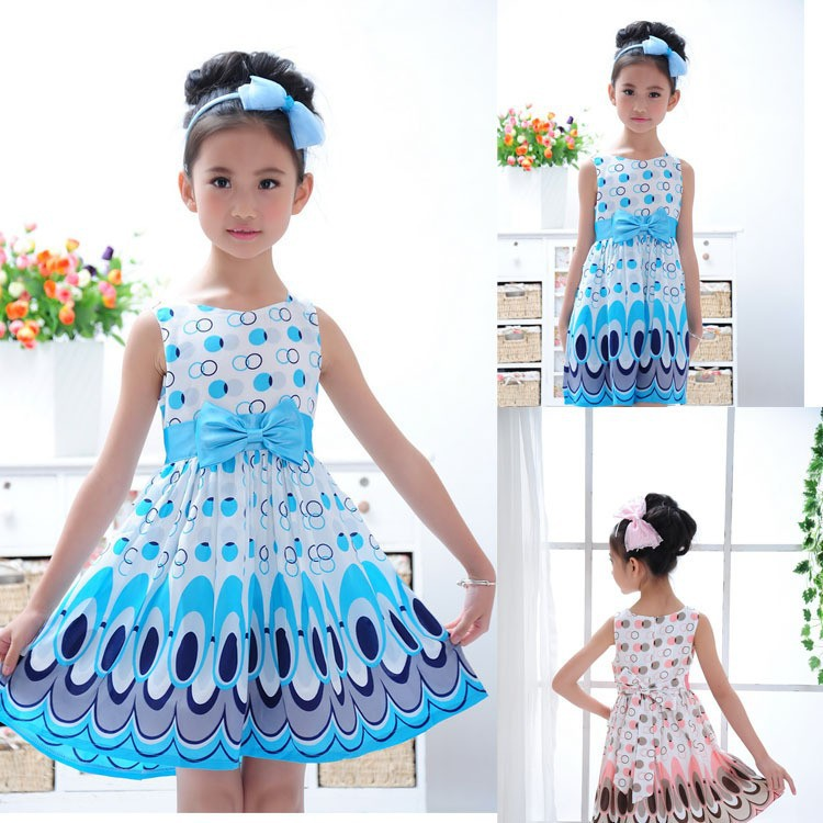 (5 Size/Lot)Wholesales Summer Kids Dress Fashion Girl Dress 3-9 Year Old Children Clothes(China (Mainland))