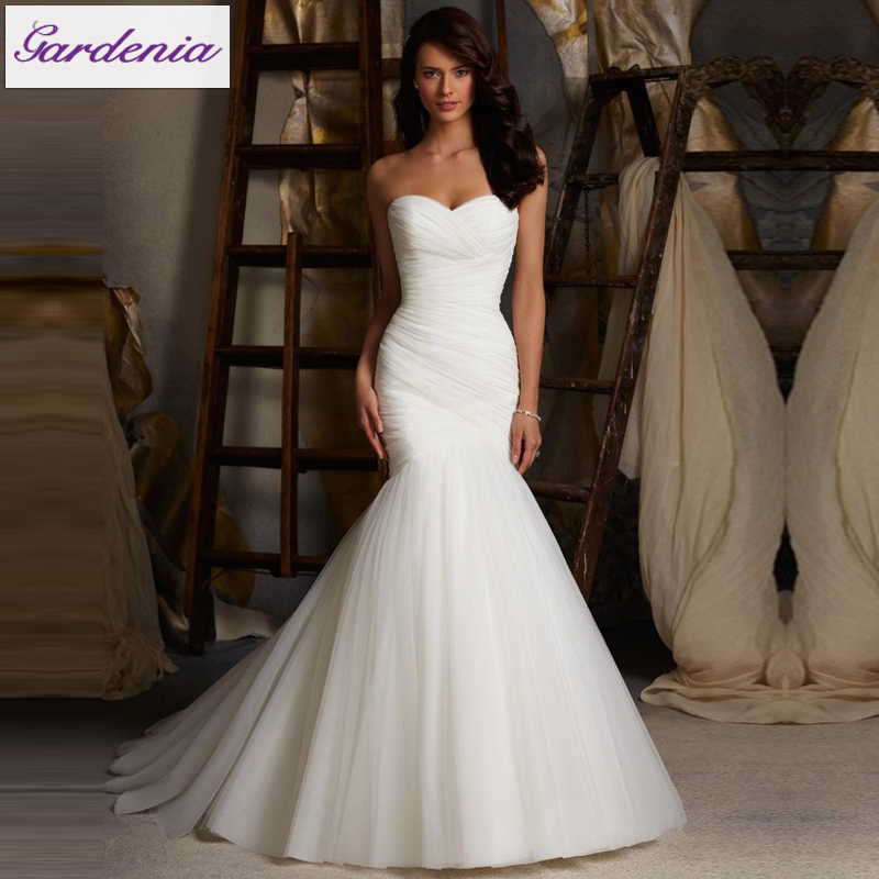 Simple Wedding Dress High Neck : High quality simple wedding dress sweetheart neck lace up