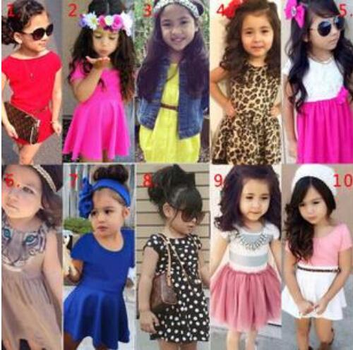 SQ226 Free shipping 2015 European American fashion girls dress children clothing baby short sleeve dress kids dresses wholesale<br><br>Aliexpress