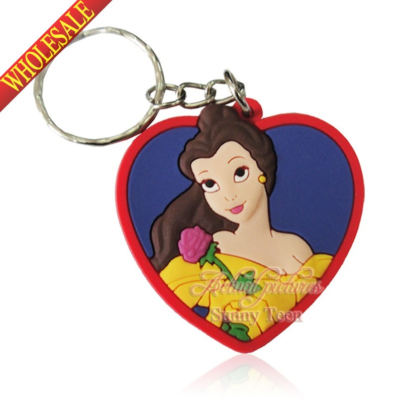 Kawaii 1pcs Princess Keychains Key Ring For Bags wallet Clothing,Key Accessories,Cartoon Characters Travel Accessories as Gifts(China (Mainland))