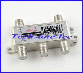 Wholesale 5-1000MHz 1 In 4 Out TV CATV Signal Coupler 5 Way Splitter free shipping