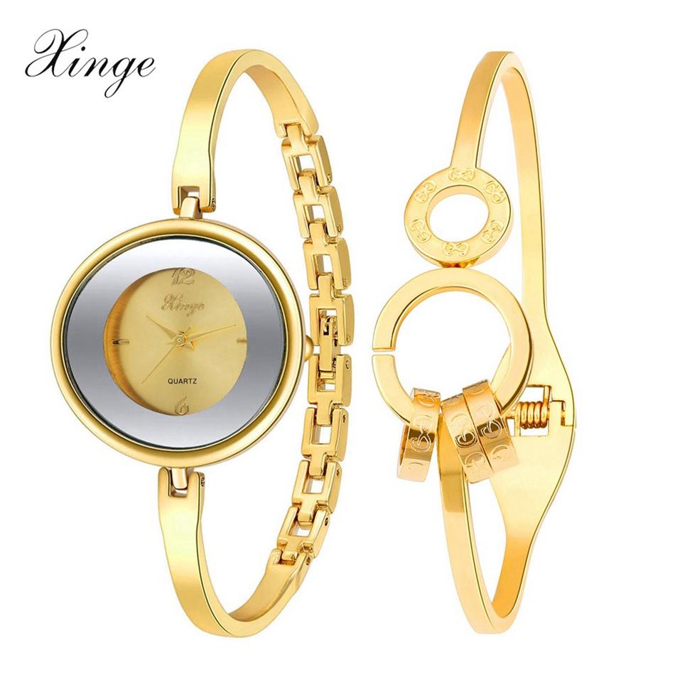 Xinge Brand 2016 New Fashion Famous Watch Women Gold Luxury Bracelet Wristwatch Dress Clock Ladies Gift Quartz Watch XG1-2<br><br>Aliexpress