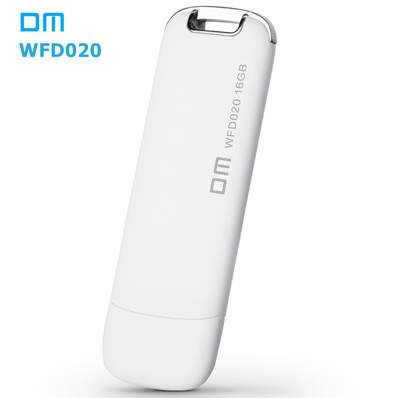 DM WFD020 Wireless USB Flash Drives 16GB WIFI For iPhone / Android / PC Smart Pen Drives Memory Usb Stick Multiplayer With Share(China (Mainland))