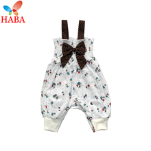 HABA Mushroom baby girl rompers summer 100% cotton baby girl clothes HB0659(China (Mainland))
