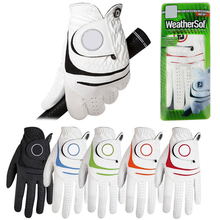 White Golf Gloves Male models Multiple colors Left Breathable Soft Pu with Sheepskin with Hot Deals 2016 new style(China (Mainland))