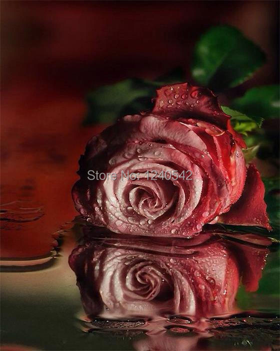 5d diy diamond painting diamond embroidery rose pictures of rhinestones patchwork accessories hobbies and crafts home decoration(China (Mainland))