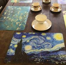 4 Pcs/lot Placemat fashion pvc dining table mat disc pads bowl pad coasters waterproof table cloth pad slip-resistant pad(China (Mainland))