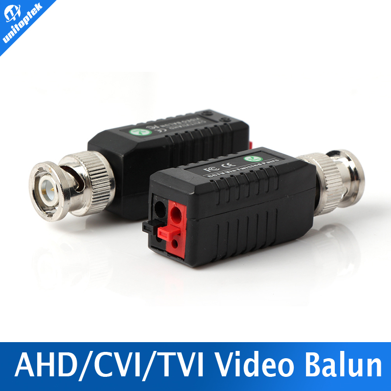 Twisted BNC Video Balun Passive Transceivers UTP Balun BNC Cat5 CCTV Support 720P AHD&1080P CVI&TVI Camera UP TO 250m-450m Range(China (Mainland))