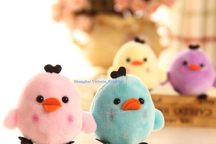 Kawaii NEW Little 6Colors- Rilakkuma Bear Chicken , String Pendant Plush Stuffed TOY DOLL , Soft Plush Toys of Bouquet(China (Mainland))