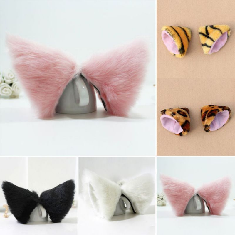 Night Party Club Ball Wearing Deacorate Cat Fox Fur Ear Pattern Hair Clip Bell(China (Mainland))