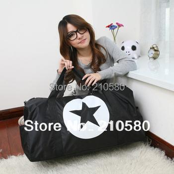 2015 NEW!!! Free shipping Retail Fashion Women Travel Bags Large Capacity 56L-75L Sports Tote High Quality Nylon Black/Pink/Blue