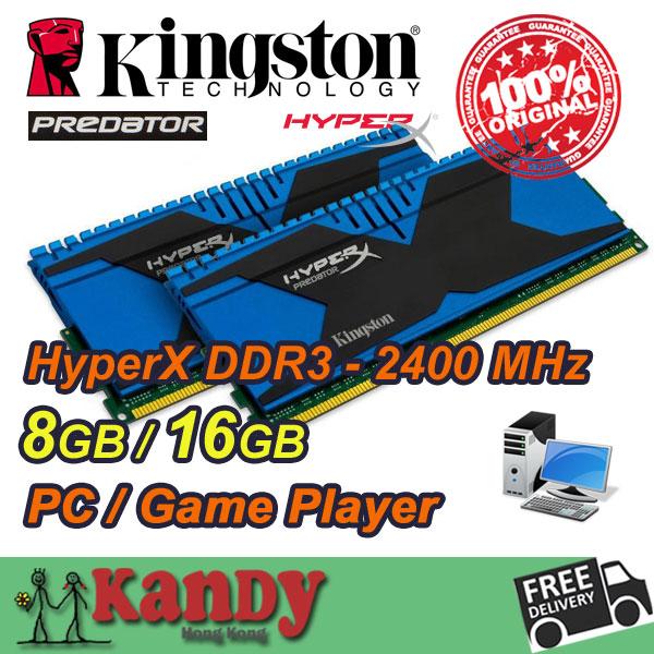 Kingston Hyperx Predator desktop memory RAM DDR3 8GB 16GB 2400 MHz PC3 19200 Non 240 Pin DIMM memoria ram computer computador pc(China (Mainland))