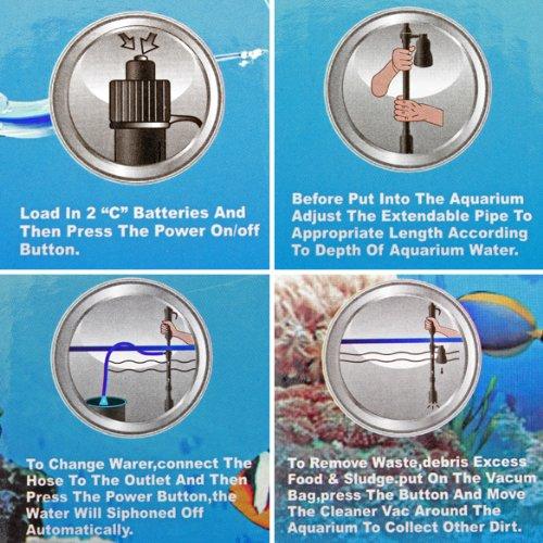 SZS New Aquarium Cleaner Fish Tank Vacuum Gravel Filter Cleaner(China (Mainland))