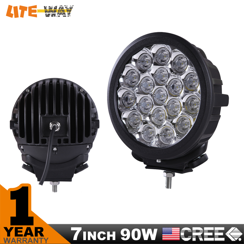 2PCS 7 INCH 90W CREE LED DRIVING LIGHT,FOR OFF ROAD USE, CAMPING, LED WORK LIGHT,4x4 ATV UTE,WATERPROOF(China (Mainland))