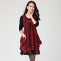 Big size clothing autumn and winter twinset one piece dress 2013 autumn new arrival winter dresses