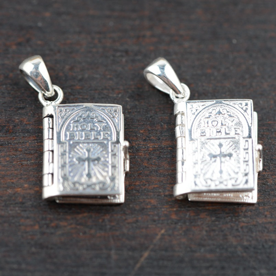 bible open wholesale sterling silver pendant s925 silver