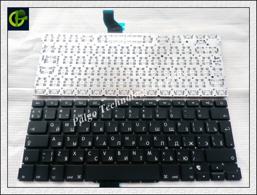 "Russian keyboard For Macbook Pro Retina 13"" A1502 ME864 ME866 2013 no backlit RU black Laptop Keyboard(China (Mainland))"