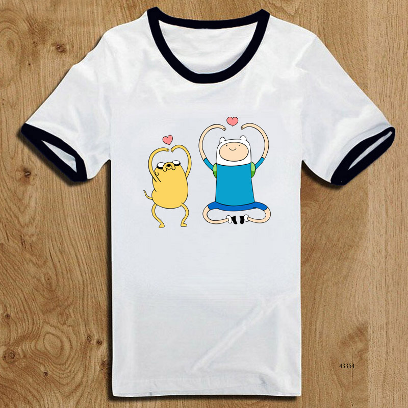 Lovely Design Fashion Adventure Time Kid Cartoon T Shirts Short Sleeve Ringer Child Funny t-shirts Unisex Finn and Jake Top Tees(China (Mainland))