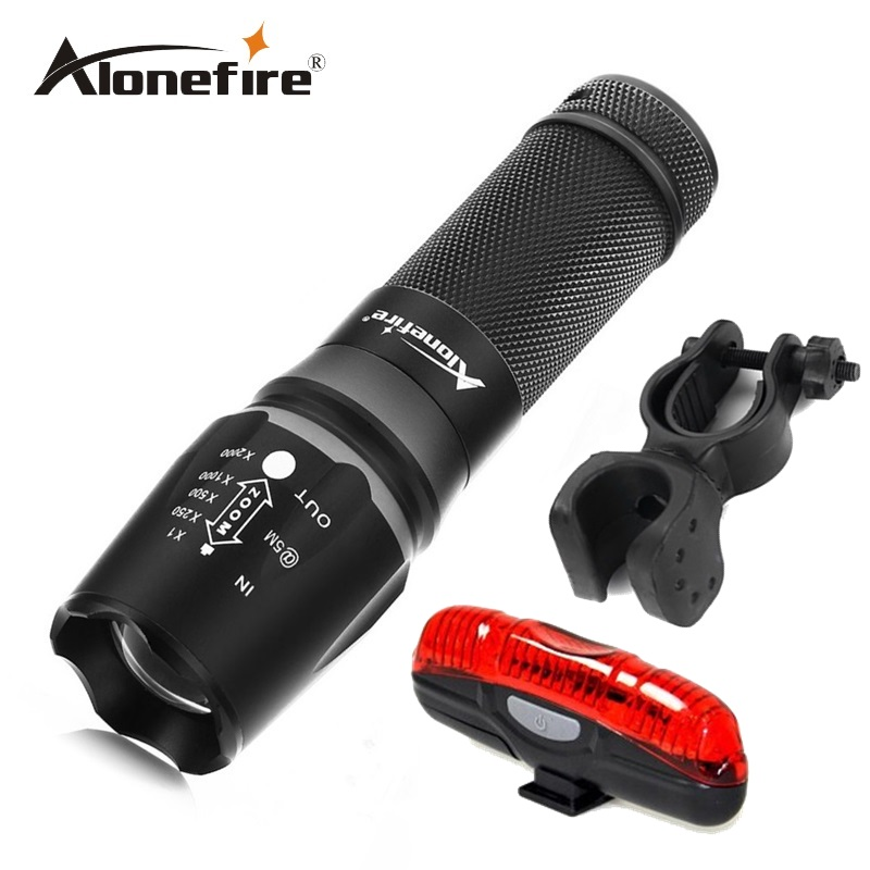 X800 2000Lm CREE XM-L T6 focus adjustable outdoor camping 5modes led flashlight torch light lamp+bicycle light+mounts<br><br>Aliexpress