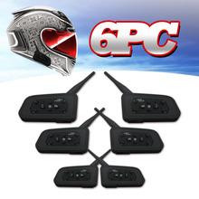 Sur les ventes 6 PCS 1200 M moto moto casque Bluetooth Intercom jusqu'à 6 coureurs Multi étanche sans fil Interphone casques(China (Mainland))