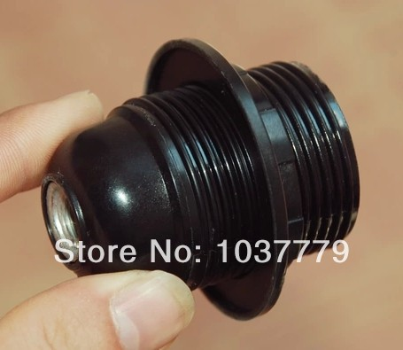 Smooth E27 plastic holders black color single shade ring lamp bases<br><br>Aliexpress