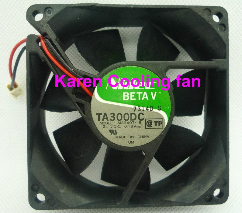 8CM TA300DC M33407-16 8025 24v 0.18a 2Wire cooling fan<br><br>Aliexpress