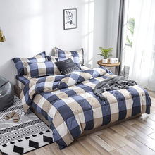 Bedding set Skin friendly cotton duvet cover set Geometric Pattern Quilt cover Bed Sheet Pillowcases 2pcs/3pcs/4pcs 2019 latest(China)