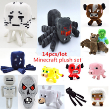 Hot 14pcs/lot Minecraft Creeper Plush Toys Minecraft Game Anime Brinquedos Cartoon Soft Plush Toys Baby Doll For Gift Wholesale