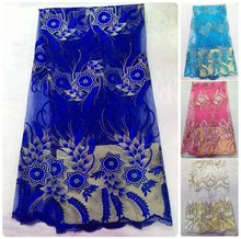African Lace Fabric Wedding Decoration Christmas Decorations for Home Renda French Nigerian Fabrics Costura Patches Dentelle 006(China (Mainland))
